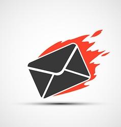 Burning envelope stock vector