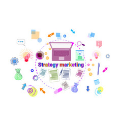 business marketing strategy development concept vector image vector image
