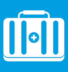 first aid kit icon white vector image