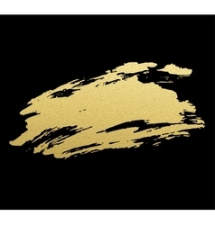 Gold acrylic paint vector image vector image