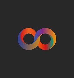 Infinity symbol geometric shape colorful mockup vector image