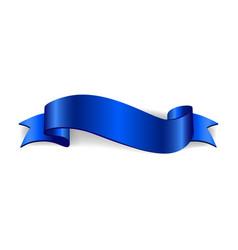 ribbon banner satin blank collection vector image