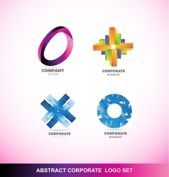 Abstract corporate business logo icon set vector image