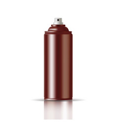 copper paint aerosol spray metal bottle can vector image