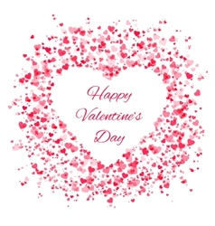 Frame of many hearts - Valentines Day vector image