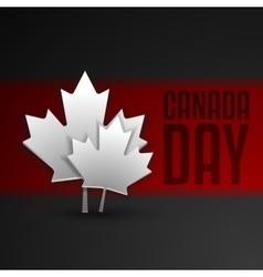 Happy Canada Day card in format vector image vector image