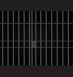 prison bars cell vector image