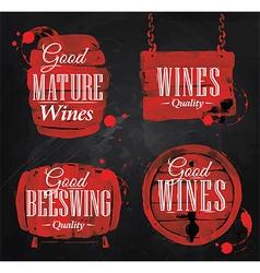 Watercolor Wine Cask chalk vector image vector image