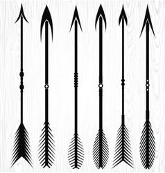 Arrow Silhouettes vector image
