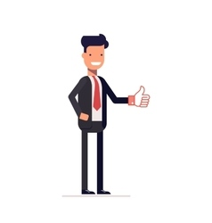 Businessman or manager showing thumbs up Man in a vector image