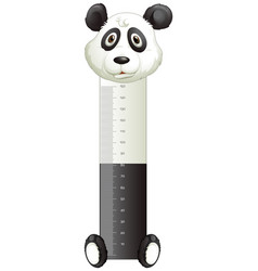 Panda paper with measuring height scales vector
