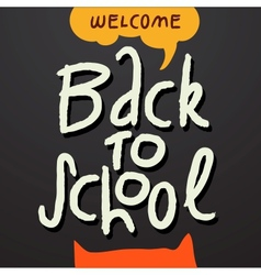 Welcome Back to school background vector image vector image