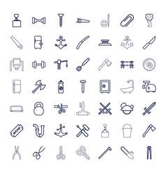 49 steel icons vector