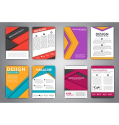 A set of brochures in the style of the material vector image