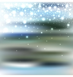Abstract blur bokeh winter background vector