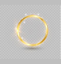 abstract luxury golden ring light circles vector image