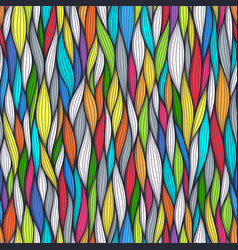 Abstract wavy lines seamless patterns set floral vector