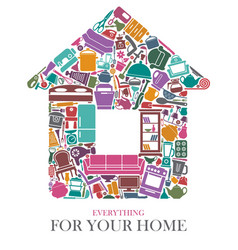 all for the house vector image