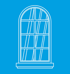 Arched window icon outline vector