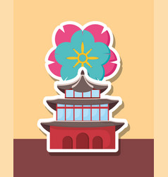 asia architecture design vector image