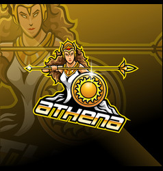 athena esport mascot logo design vector image