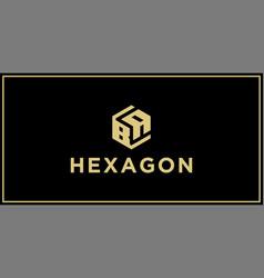 Ba hexagon logo vector