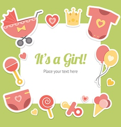 Baby shower for girl vector image