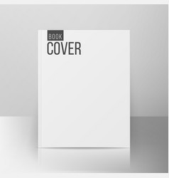 book cover template realistic vector image