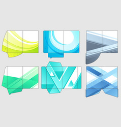 business papers folder template paper vector image