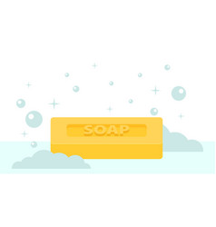 cartoon flat style rectangular soap icon vector image