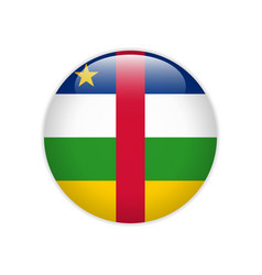 central african republic flag on button vector image