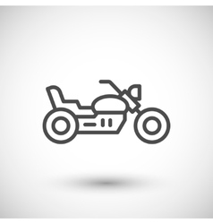Chopper motorcycle line icon vector