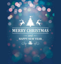 christmas greetings typography on blue background vector image