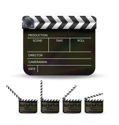 Clapper board black cinema clapper vector