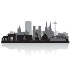 Cologne germany city skyline silhouette vector