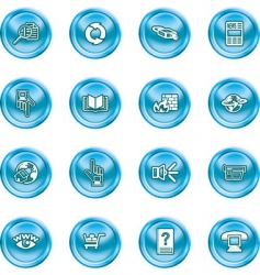 computing icon set vector image vector image