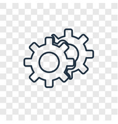 configuration concept linear icon isolated on vector image