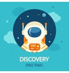 Cosmos discovery poster exploration theme vector image
