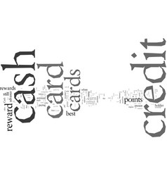 Do you know how cash back credit cards work vector