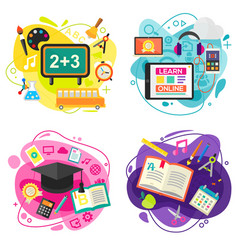 education and online learning concept banners vector image