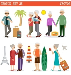 Elderly people travel vector