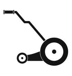 Electric grass cutter icon simple style vector