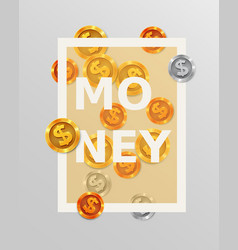 finance design elements background with coins or vector image