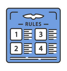 Flight rules color icon vector