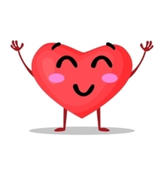 funny heart isolated on vector image