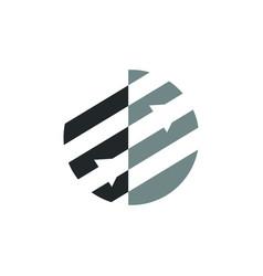 Geometric shape logo circle with an arrow vector
