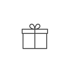 gift present icon vector image