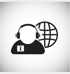 global customer service on white background vector image