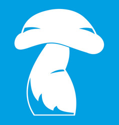 Good mushroom icon white vector