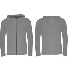 gray hoodie vector image
